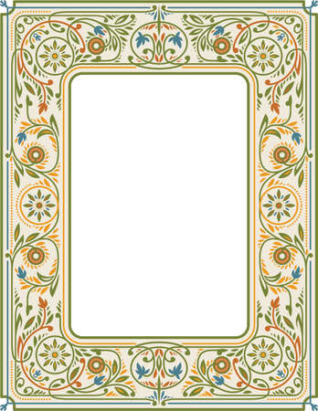 Victorian Floral Frame Stockfoto - 149384241