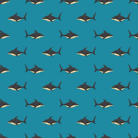 Sharks Seamless Pattern