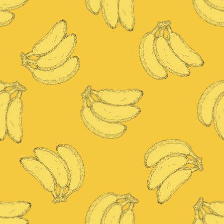 Yellow Bananas Pattern Иллюстрация