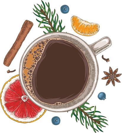 Christmass Coffee Иллюстрация
