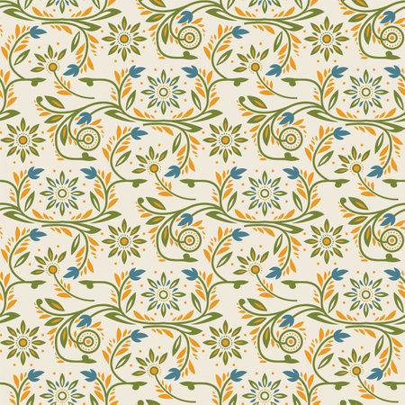 Victorian Floral Pattern Иллюстрация