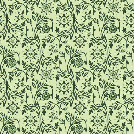 Green Floral Pattern 向量圖像