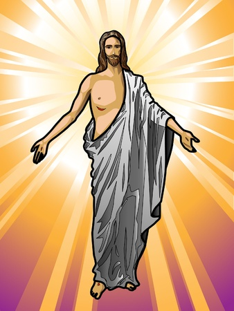 illustration of the Resurrected Jesus Christ   Vector