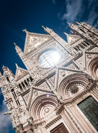 Facade of Siena Cathedral  Duomo di Siena , Italy   Stock Photo - 18136538