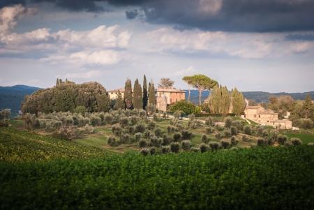 View of scenic Tuscany landscape , Chianti region, Tuscany, Italy Stock Photo - 18140153