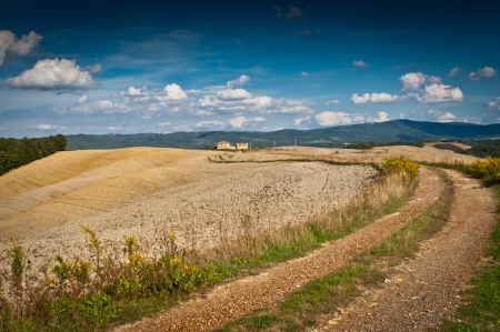 View of scenic Tuscany landscape , Chianti region, Tuscany, Italy Stock Photo - 18140170