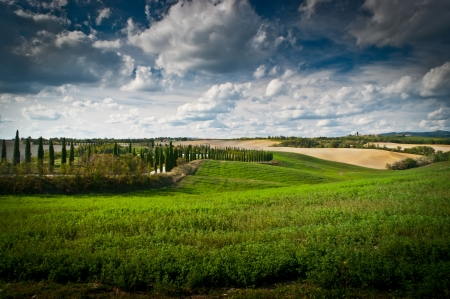 orte: View of scenic Tuscany landscape , Chianti region, Tuscany, Italy Stock Photo