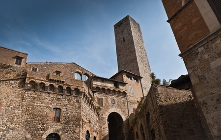 Tower of San Gimignano-small,old, town in Tuscany,Italy.