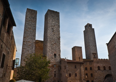 Towers of San Gimignano-small,old, town in Tuscany,Italy.