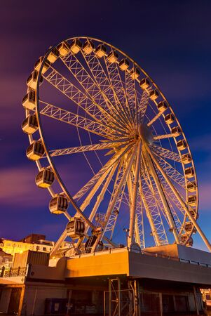 Giant Brighton Wheel at sunrise ,England