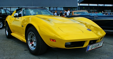 GRAZ-SEPTEMBER 11: A Corvette at American cars show -19th Crocodile Meeting September 11,2010 Kalsdorf bei Graz,Austria.