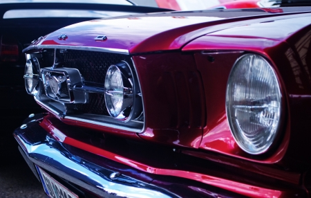 GRAZ-SEPTEMBER 11:A Ford Mustang at American cars show -19th