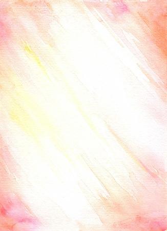 Simplemente rosa, naranja y amarillo de fondo de acuarela pintada agradable textura de papel Foto de archivo