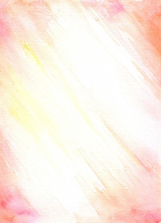 Simply pink,orange and yellow background watercolor painted Nice paper texture