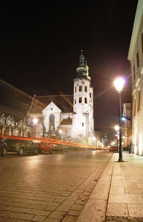 Saint Andrew Church at night - Cracow,Poland Stock Photo - 19536637