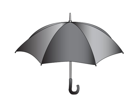 jams: illustration of black umbrella
