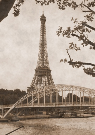 Eiffel Tower located on the Champ de Mars-symbol of Paris, France  photo