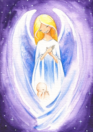 Angel protect a newborn baby