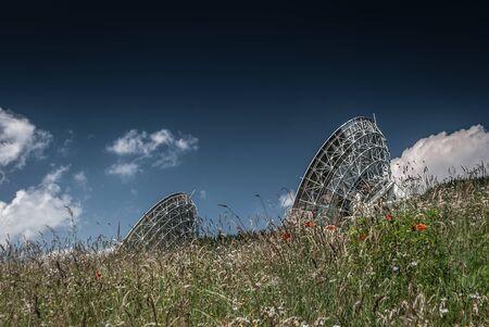 sattelite: Antennas on the earth station Aflenz ,Styria,Austria