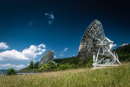 Antennas on the earth station Aflenz ,Styria,Austria   photo