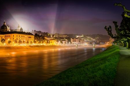 Night view of Salzburg, Austria  Historic Centre of the City of Salzburg  Stock Photo - 20737722