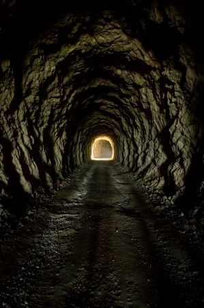 Light at the end of the tunnel Traunstein,Styria,Austria  版權商用圖片