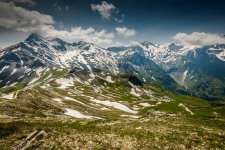 hohe tauern: Alpina road-Grossglockner Hohalpenstrasse  Hohe Tauern National Park, Austria