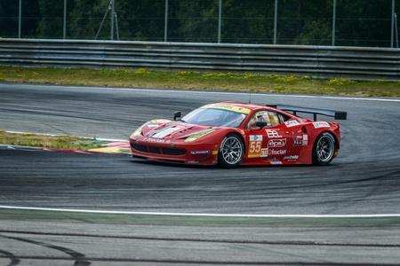 steiermark: SPIELBERG, AUSTRIA - JULY 20 Piergiuseppe Perazzini of AF Corse team on Ferrari F458 Italiaparticipates in a rally for European Le Mans Series on July 28, 2013 in Spielberg, Austria Editorial