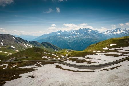 hohe tauern: Alpine road-Grossglockner Hohalpenstrasse  Hohe Tauern National Park, Austria   Stock Photo
