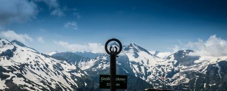 grossglockner: Grossglockner- summer view of  highest peak in Austria