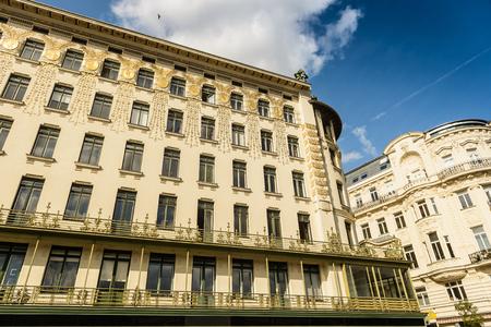 Beautiful architecture in Art Noveau style in Vienna,Austria  photo