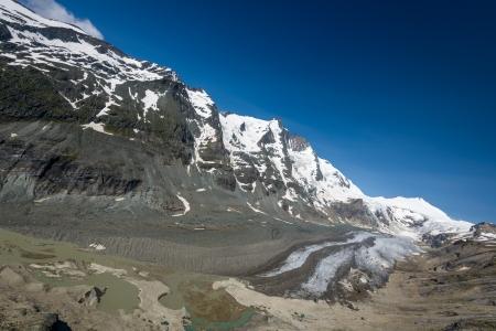 tauern: Johannisberg summit,Grossglockner  left  and Pasterze glacier in the Hohe Tauern National Park, Austria