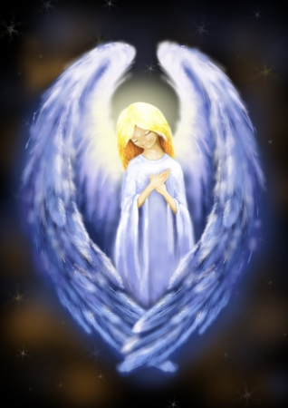 Illustration of beautiful bright angel