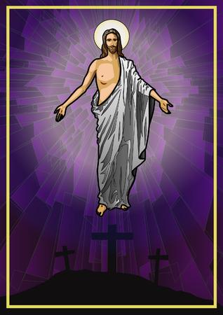 retratos: Ilustraci�n del vector del Jesucristo resucitado Vectores