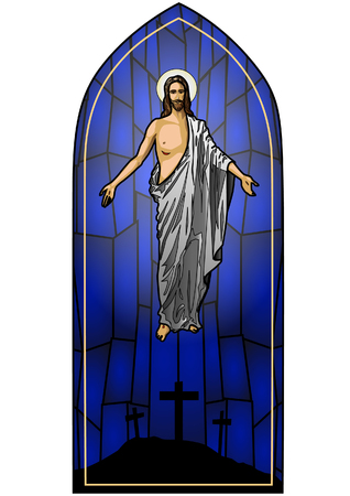 Vector illustration of the Resurrected Jesus Christ  Illustration