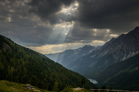 Alpine landscape in the Austrian alps -Sankt Jakob in Defereggen  photo