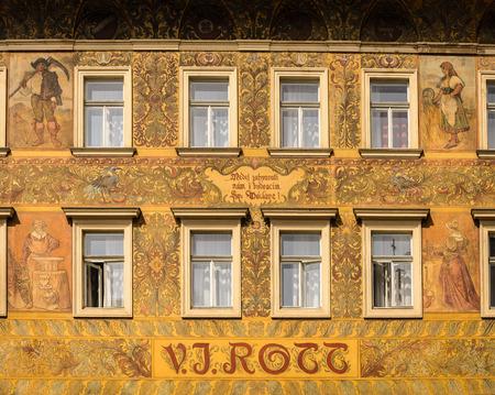 rott: Fachada de la famosa casa de Rott en Old Town, Praga, Rep�blica Checa