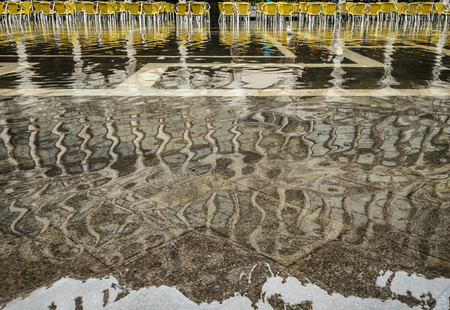 venician: High water on St Marks Square ,Venice,Italy.