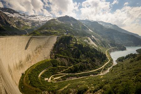 kaprun: Kaprun dam wall-the highest power plant in Carinthia,Austria. Stock Photo