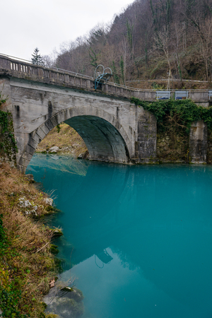 turquise: Turquise water in Soca river in Most Na Soci town,Slovenia.