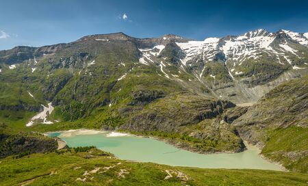 tauern: Mountain lake in the national park Hohe Tauern in Austrian Alps. Stock Photo