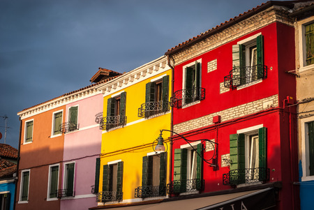 case colorate: Colorful houses in Burano-Venice laguna,Italy.