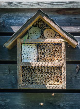 manmade: A nice lacewig wooden house in the garden Stock Photo