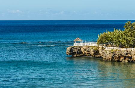 Tropical sea and coast Yaguanabo, Cuba Stock Photo