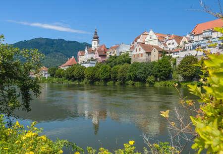 steiermark: Old architecture of Frohnleiten-small city above Mur river, Stiria, Austria.