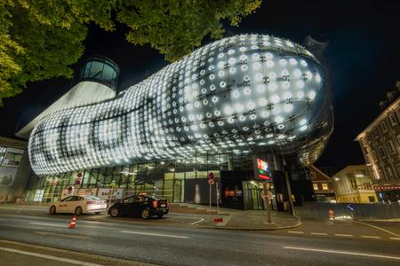 GRAZ, AUSTRIA - JULI 17, 2017:Kunsthaus- Graz Art Muzeum designed by Peter Cook and Colin Fournier  in Graz, Austria. Editorial