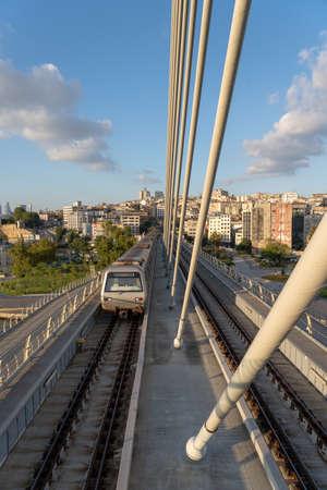 A metro bridge in Istanbul