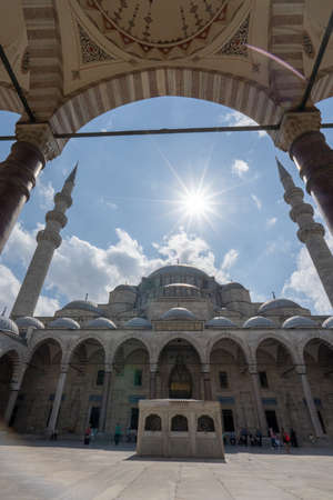 The Sulemaniye mosque in Istanbul