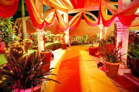 Decoration view in Indian Wedding Stock Photo - 91306354