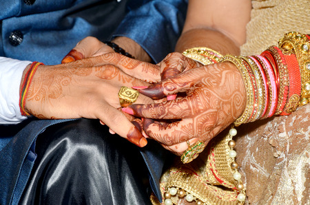Indian Couples Shows Engagement Rings